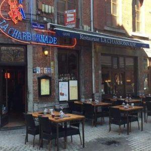 la charbonnade d'angus de bestes steak van belgie vleesrestaurant steakhouse